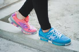 woman with athletic shoes